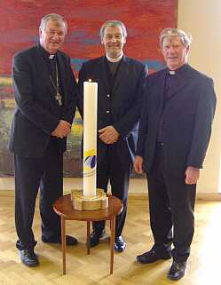 Bishop Duffy, Bishop Jackson and Prior Mohan