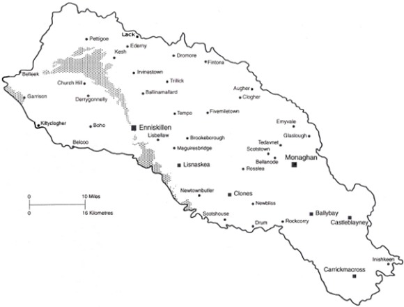Map of Clogher diocese